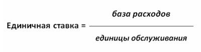 Формула расчета единичных ставок