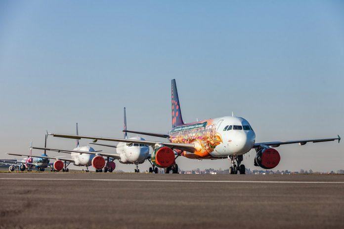 Остановленный флот Brussels Airlines