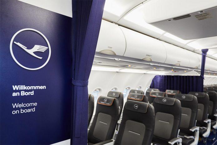 Салон Airbus A320neo Lufthansa