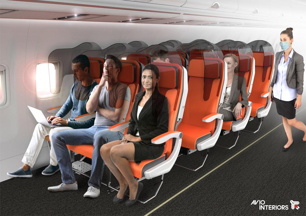 Защитные экраны Glassafe для размещения на существующих креслах в самолетах