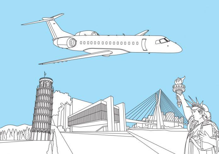 Раскраска с Embraer 145