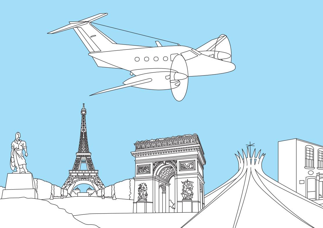 Раскраска с Embraer EMB 121 Xingu