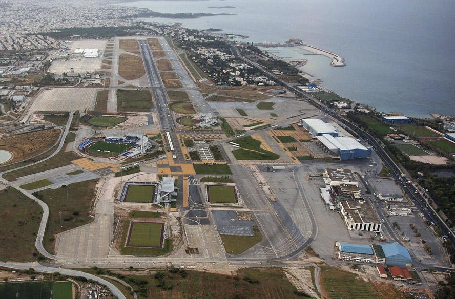 Аэропорт Элиникон в Афинах. Вид с высоты
