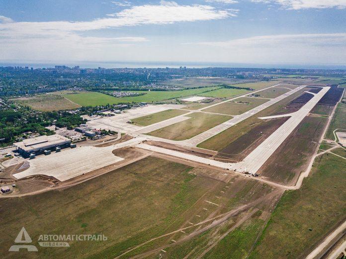Новый аэродром в аэропорту Одесса. Вид с высоты