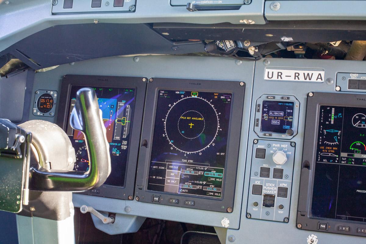 Информационные мониторы в кабине пилотов ATR 72-600