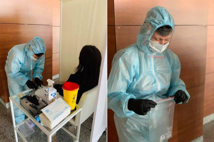 Процесс взятия анализов на коронавирус