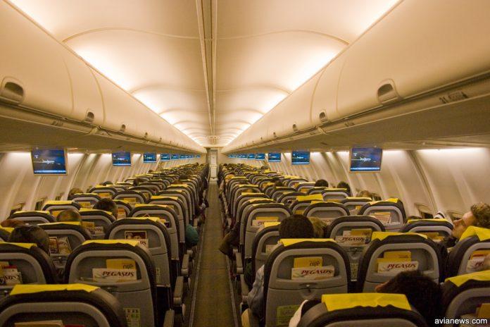 Салон Boeing 737-800 Pegasus Airlines