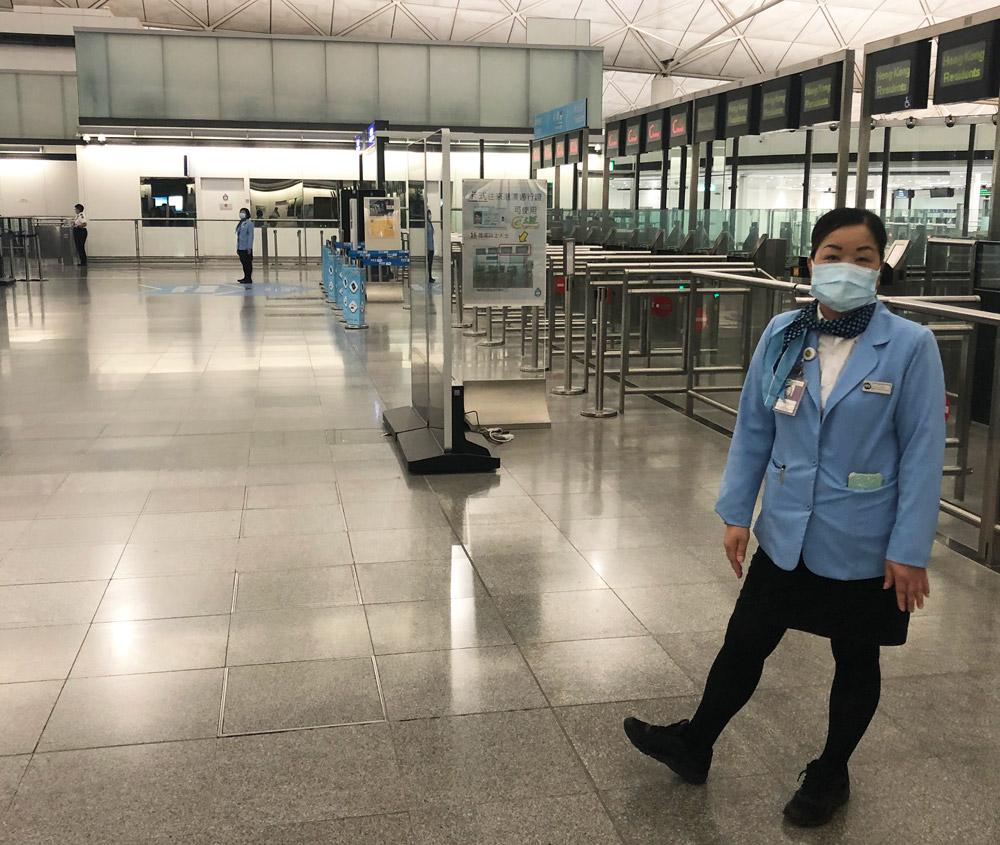 Контроль в аэропорту Гонконга