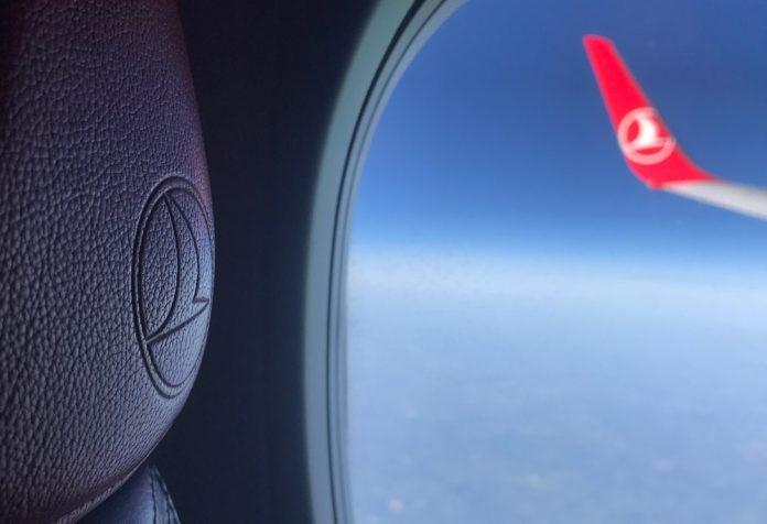 Вид из окна самолета Turkish Airlines