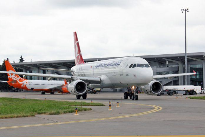 A320 Turkish Airlines в аэропорту Харьков