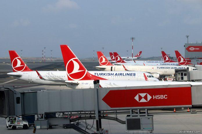 Флот Turkish Airlines в аэропорту Стамбула