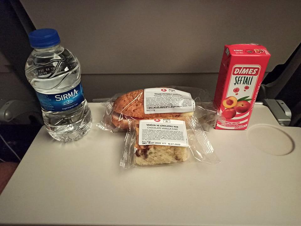 Упрощенное питание на рейсе Turkish Airlines Киев-Стамбул