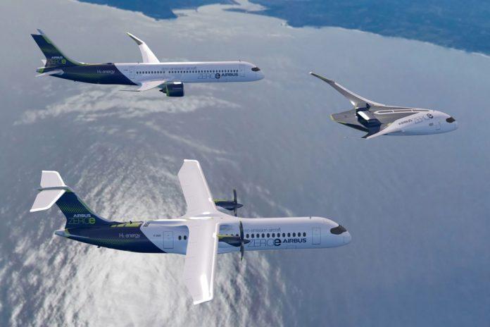 Концепция самолетов будущего на водородном топливе от Airbus