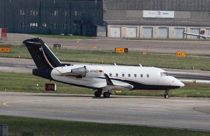 Летающая скорая помощь Bombardier Challenger 604 с регистрацией D-AFAD