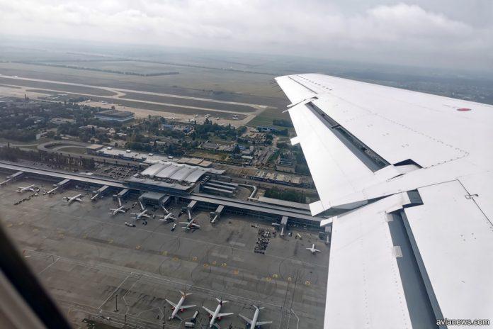 Вид на терминал D с высоты. Аэропорт Борисполь