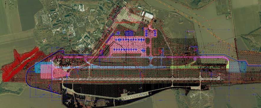 План размещения нового аэродрома и терминалов на действующем аэродроме аэропорта Днепропетровск