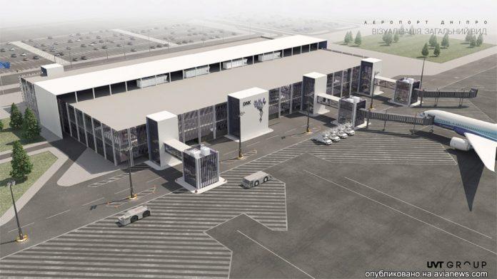 Визуализация нового терминала в аэропорту Днепра