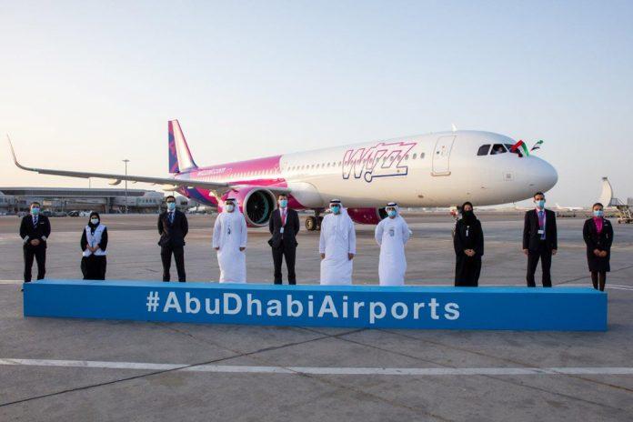 Встреча первого Airbus A321neo Wizz Air Abu Dhabi в аэропорту Абу-Даби