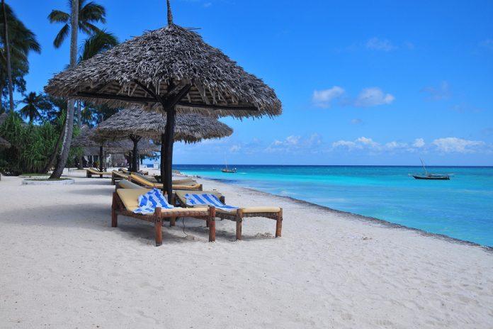 Пляж на острове Занзибар