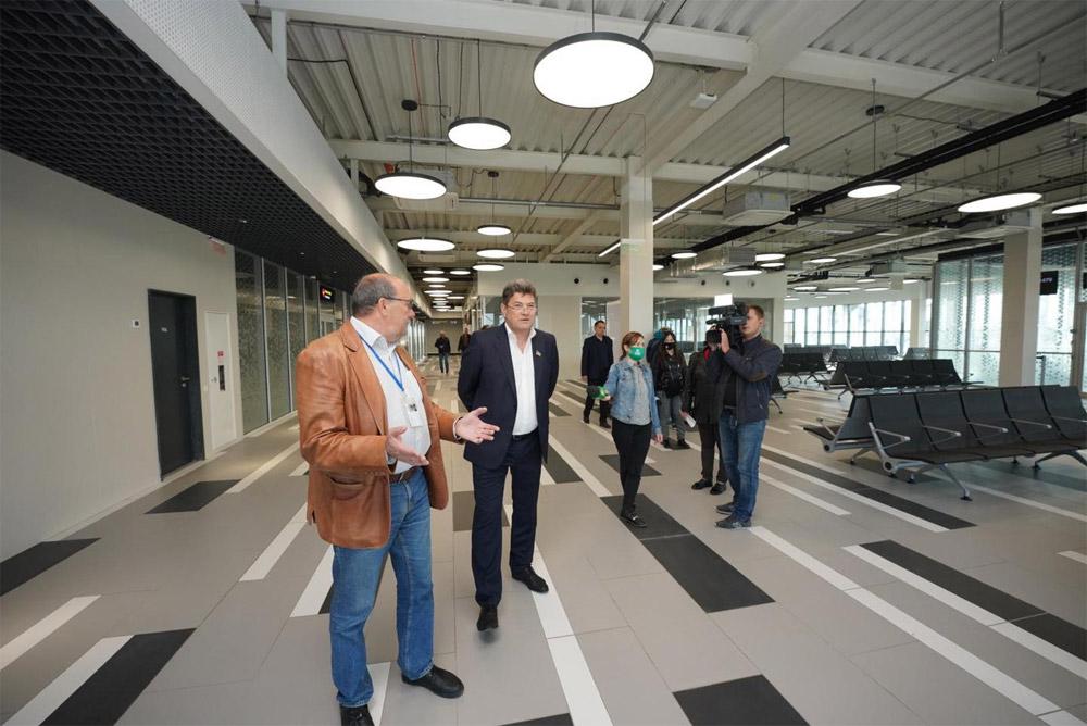 Зал вылета нового терминала аэропорта Запорожье