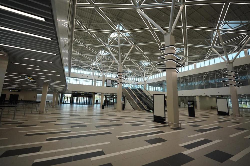 Зал регистрации в новом терминале аэропорта Запорожье