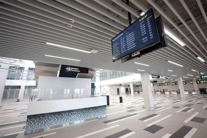 Зал регистрации нового терминала в аэропорту Запорожье