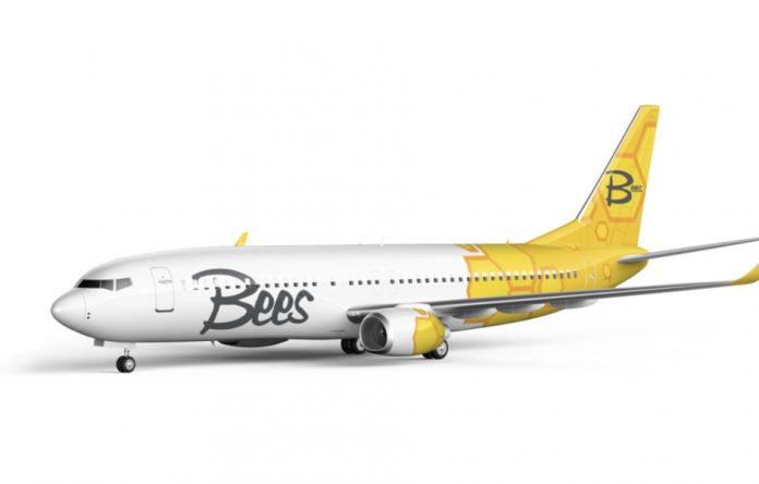Визуализация Boeing 737-800 в ливрее Bees Airline