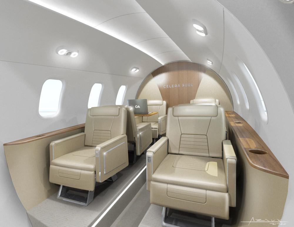 Визуализация пассажирского салона Celera 500L