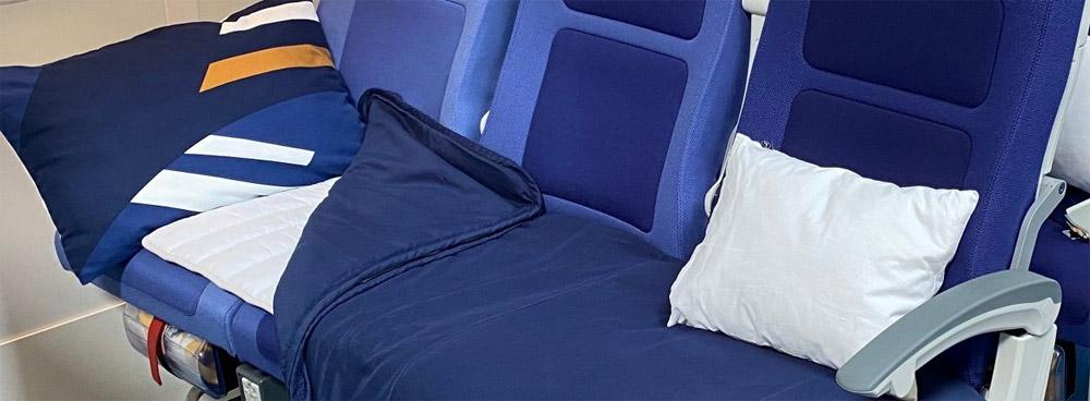 Спальный ряд (Sleeper's Row) в эконом-классе на рейсе Lufthansa