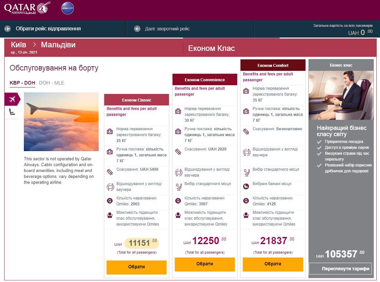 Новые тарифы эконом-класса Qatar Airways