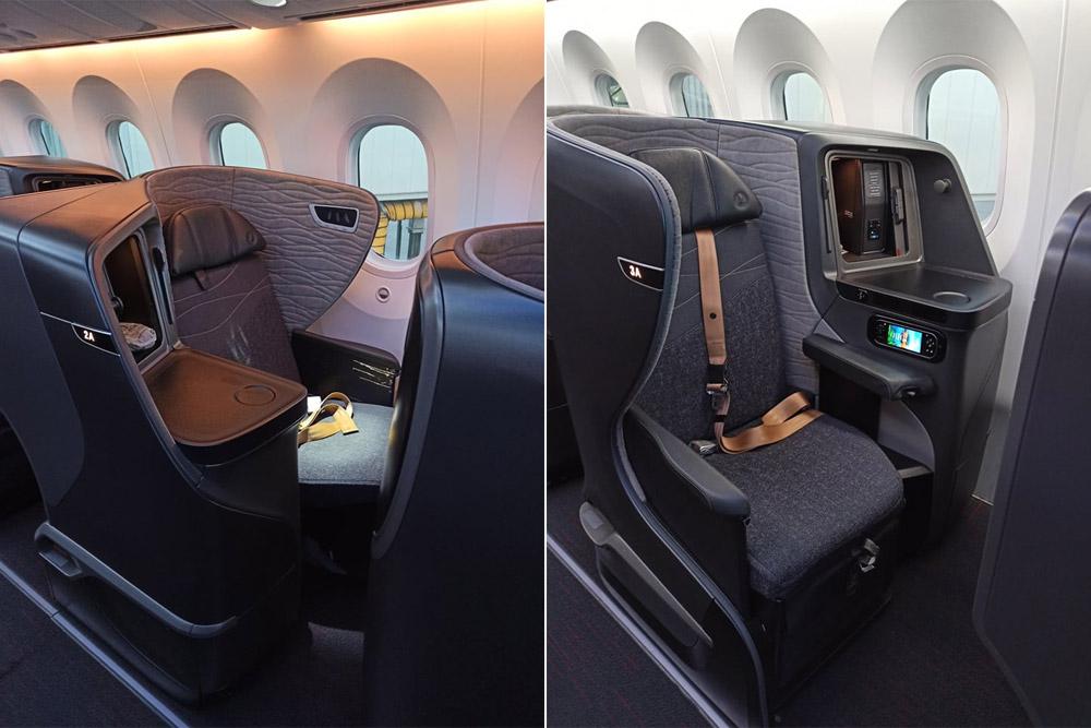 Кресла бизнес-класса Stelia Aerospace Solstys III в Boeing 787 Turkish Airlines