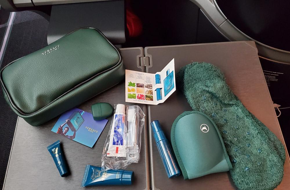 Мужская косметичка в бизнес-классе Turkish Airlines на дальних рейсах