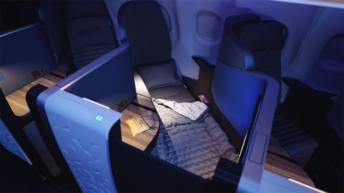 Бизнес-класс Mint Studio в самолете jetBlue