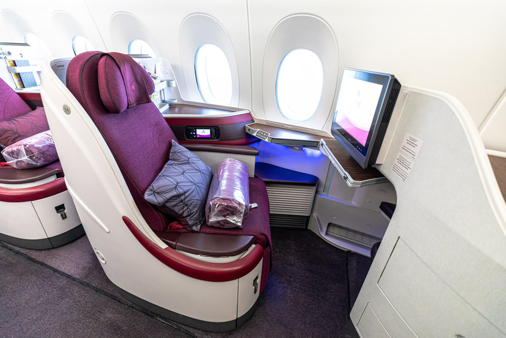 Бизнес-класс в Airbus A350-900 Qatar Airways