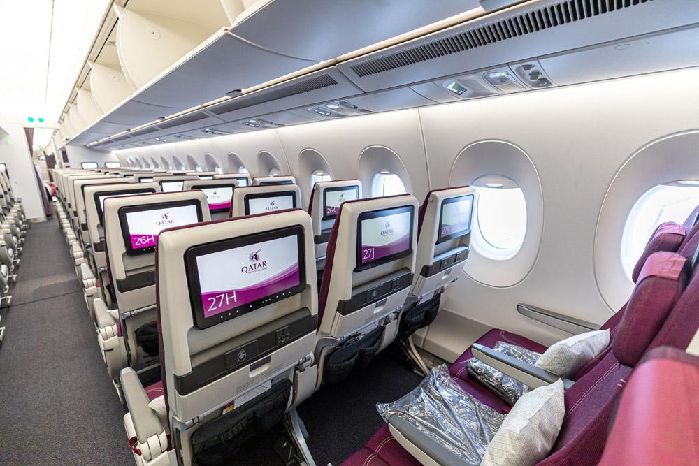 Эконом-класс в Airbus A350-900 Qatar Airways