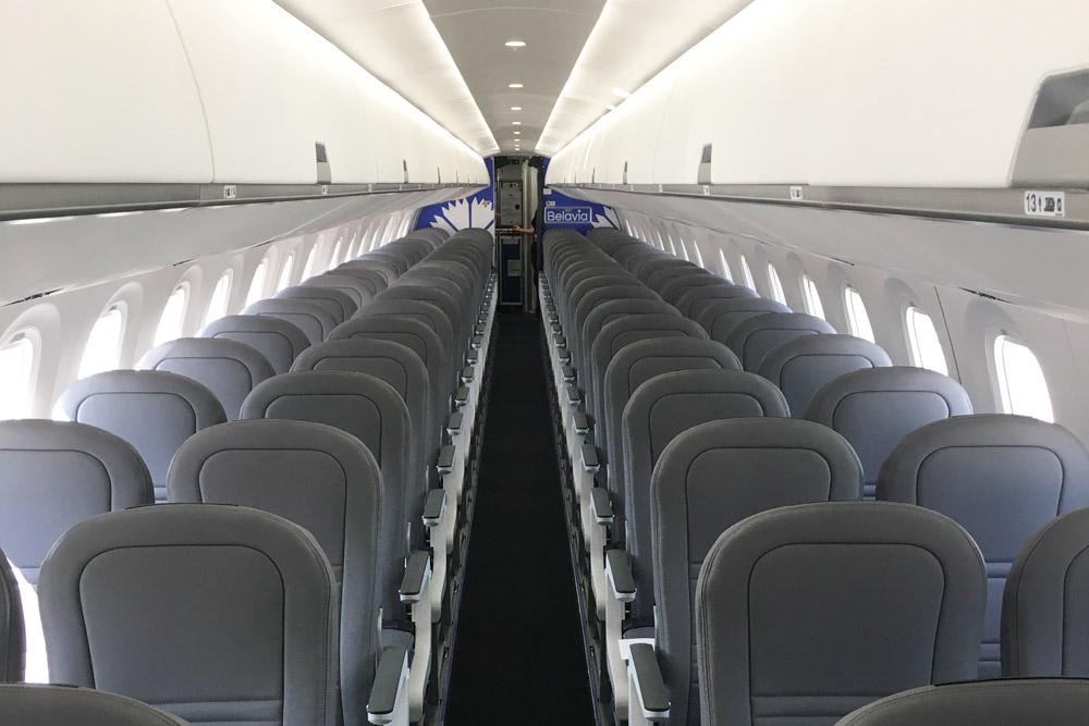 """Салон Embraer 195-E2 """"Белавиа"""""""