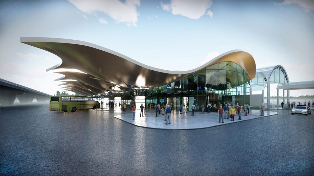 Проект автостанции в аэропорту Борисполь