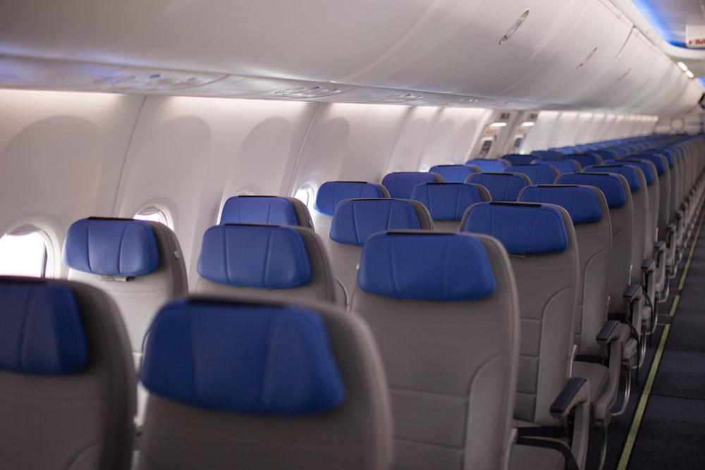 """Эконом-клас в Boeing 737-8 """"Белавиа"""""""