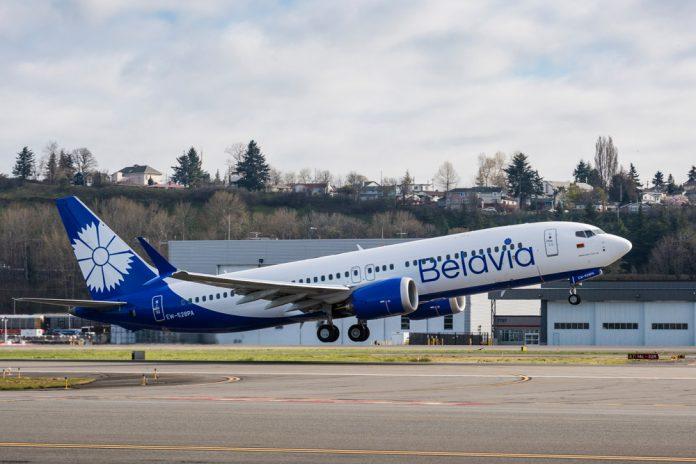 Взлет Boeing 737-8