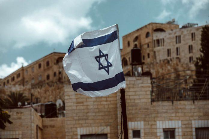 Флаг Израиля в Иерусалиме