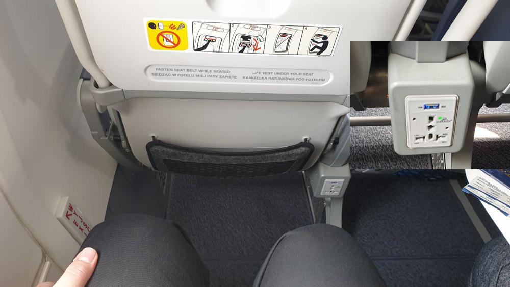 Кресла с розетками для зарядки мобильных устройств в Boeing 737 MAX LOT
