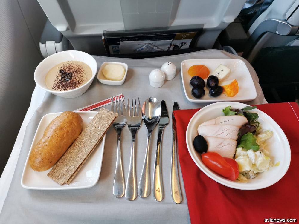 Питание в бизнес-классе Air Astana