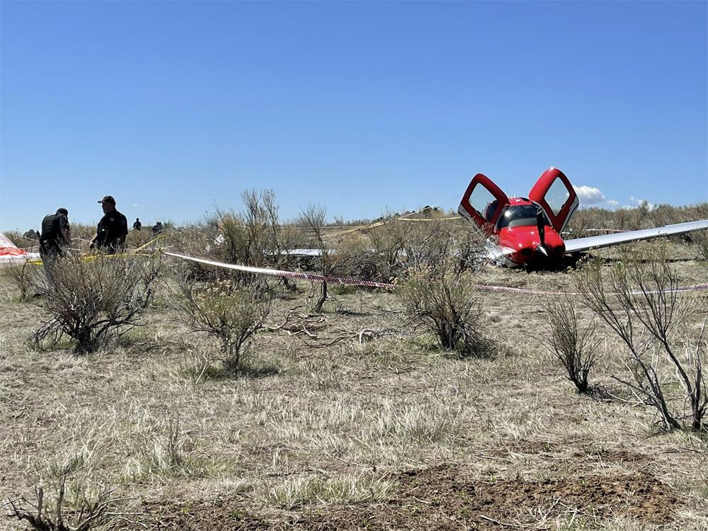 Cirrus SR-22 после приземления