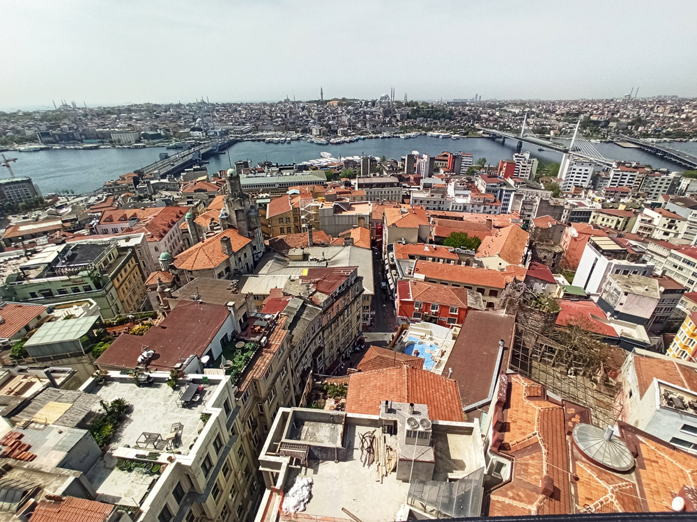 Вид с Галатской башни на старую часть Стамбула