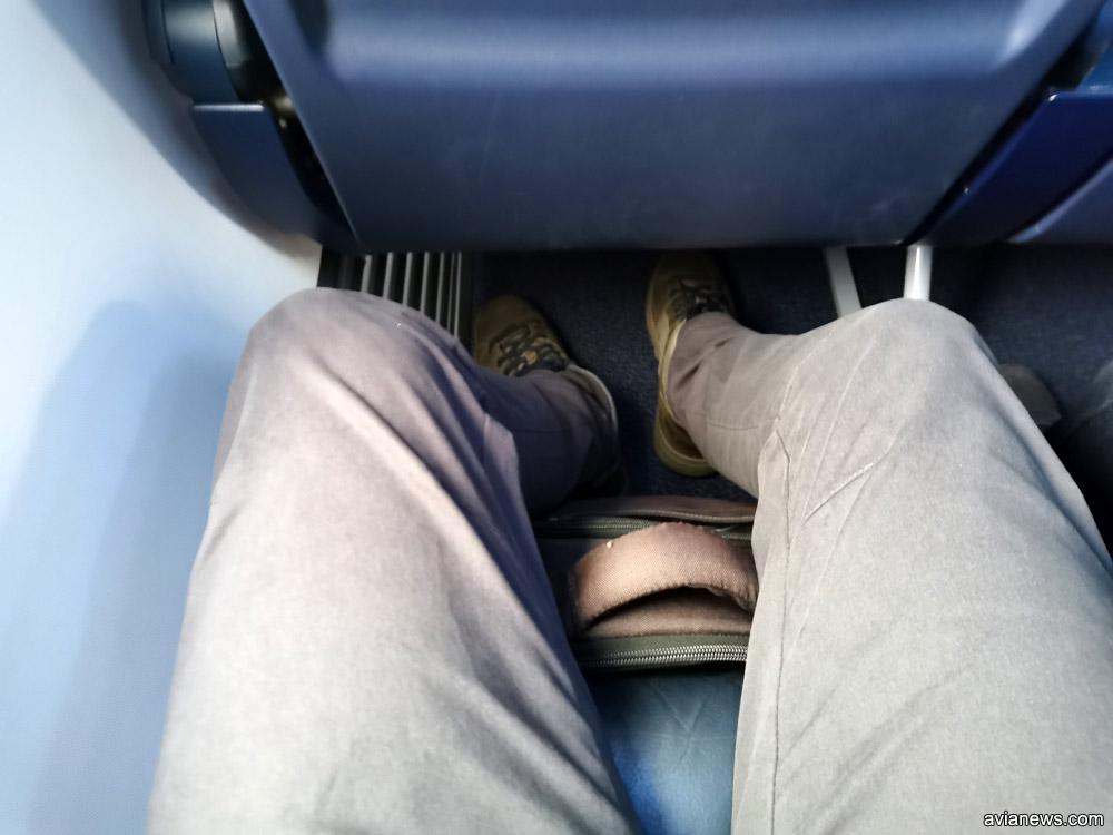 Место для ног в Boeing 737-800 Ryanair