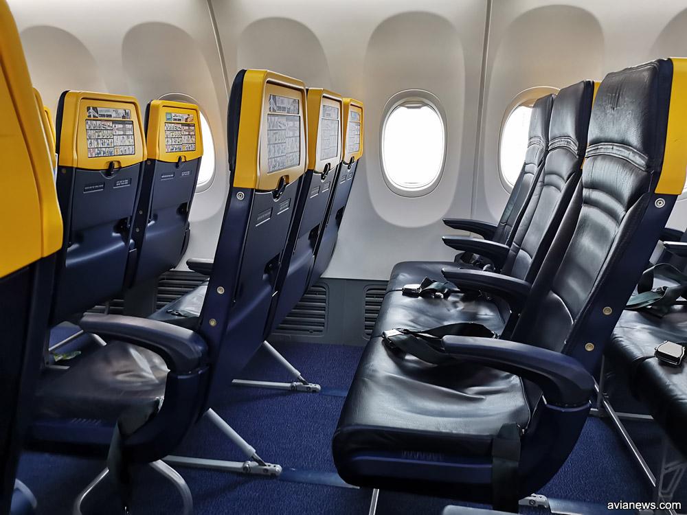 Кресла в Boeing 737-800 Ryanair