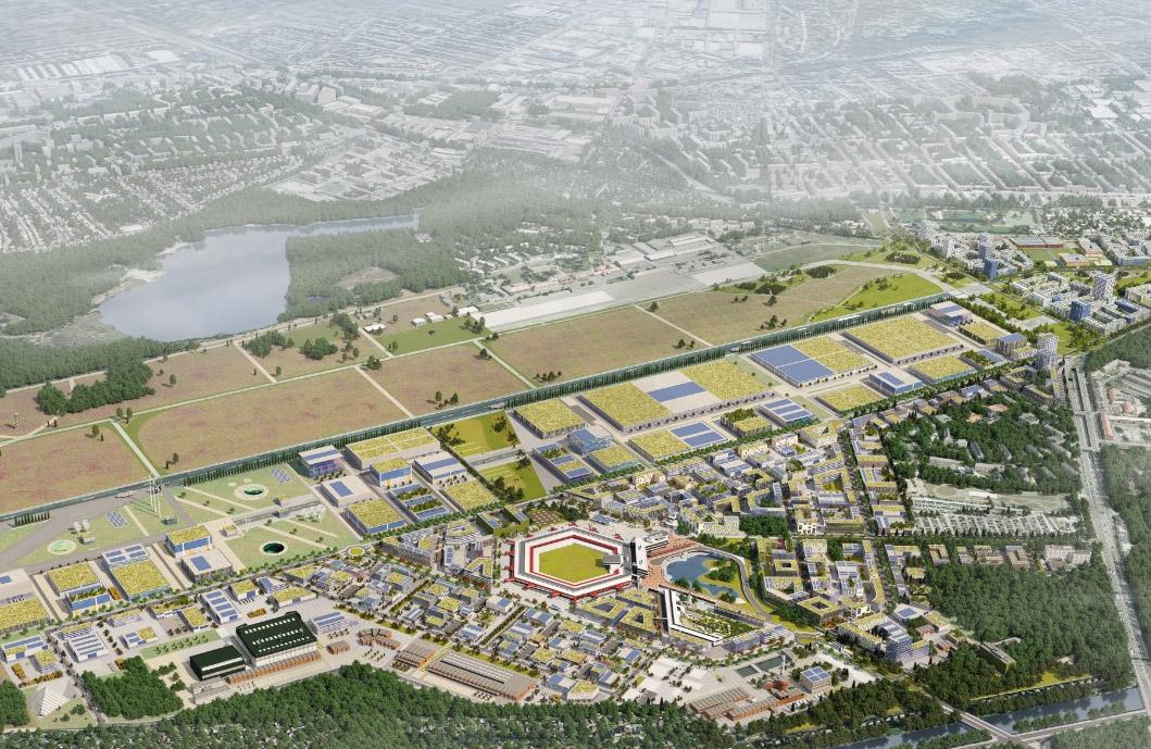 Проект строительства на территории аэропорта Тегель