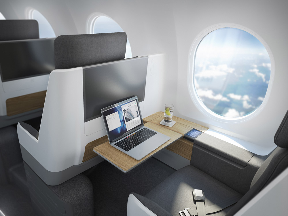 Кресло в самолете Boom Overture