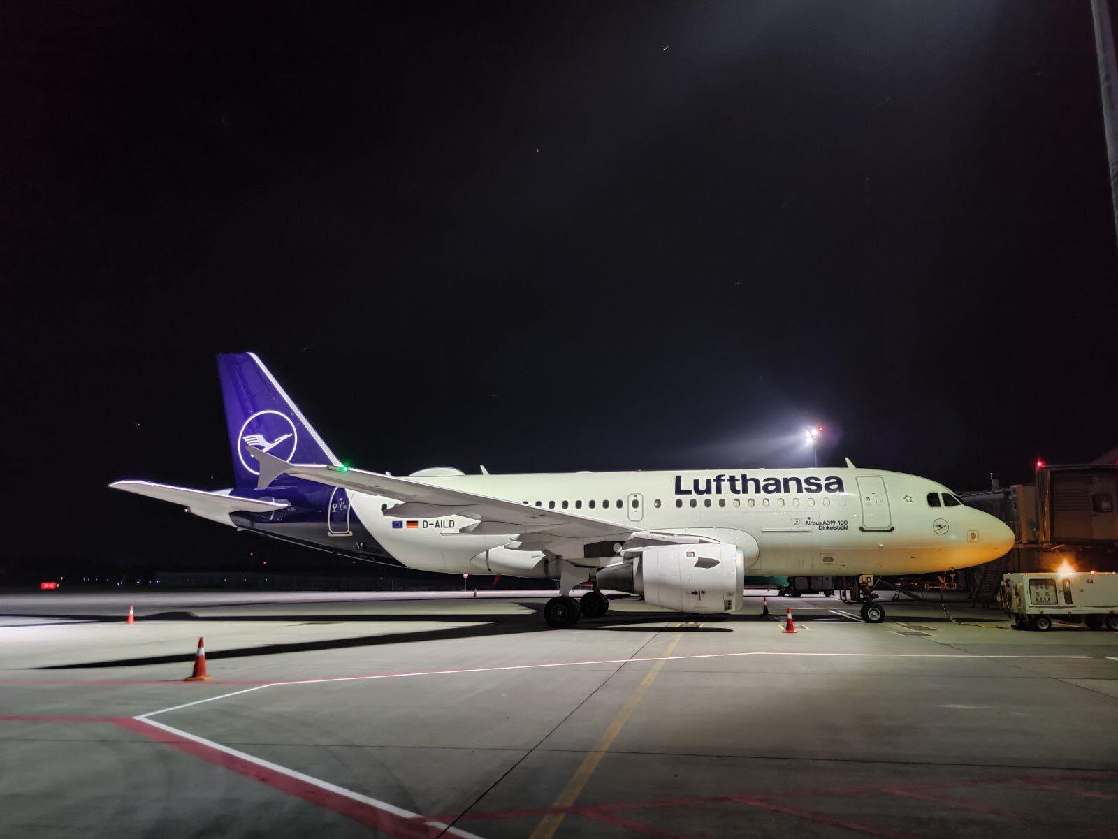 Airbus A319 Lufthansa в аэропорту Львов