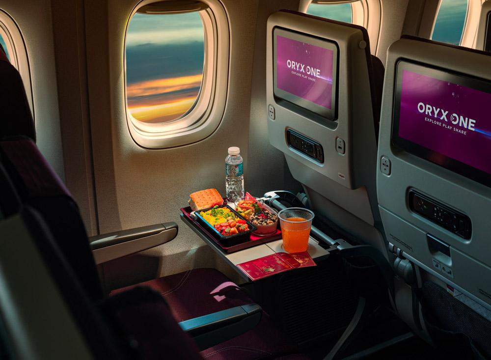 Питание в эконом-классе на рейсе Qatar Airways